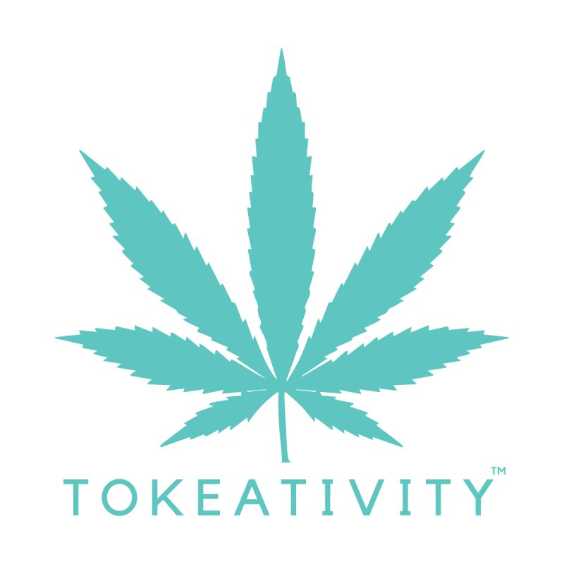 Teal Tokeativity Leaf Accessories Bag by The Tokeativity Shop