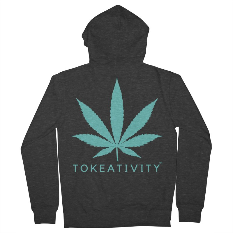 Teal Tokeativity Leaf Women's Zip-Up Hoody by The Tokeativity Shop