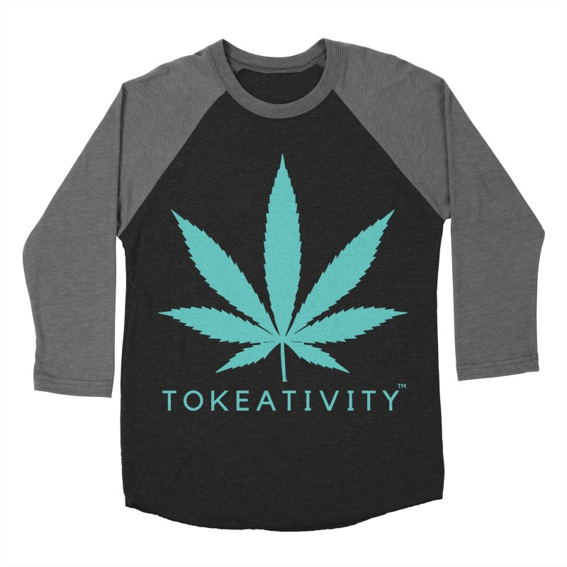 Teal Tokeativity Leaf Women's Baseball Triblend T-Shirt by The Tokeativity Shop