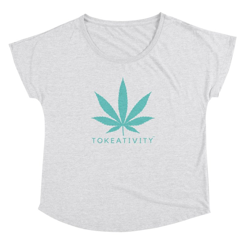 Teal Tokeativity Leaf Women's Dolman by The Tokeativity Shop