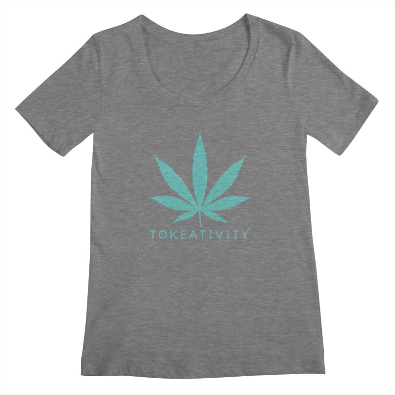 Teal Tokeativity Leaf Women's Scoopneck by The Tokeativity Shop