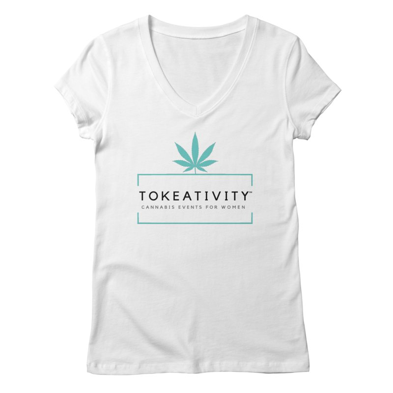 Classic Tokeativity Logo Women's V-Neck by The Tokeativity Shop