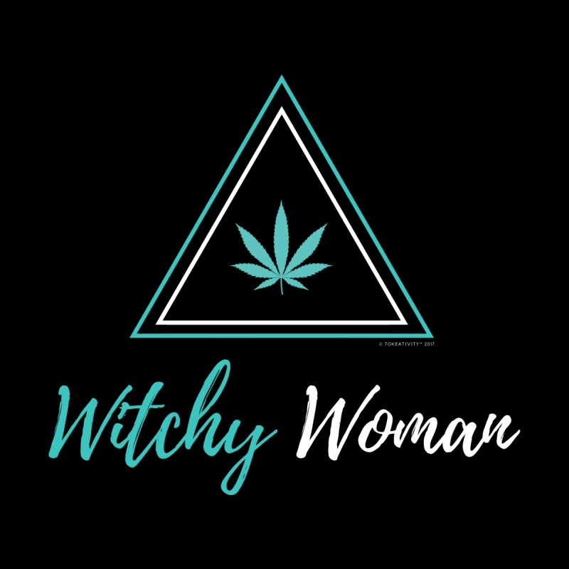 Witchy Woman Women's Longsleeve Scoopneck  by The Tokeativity Shop