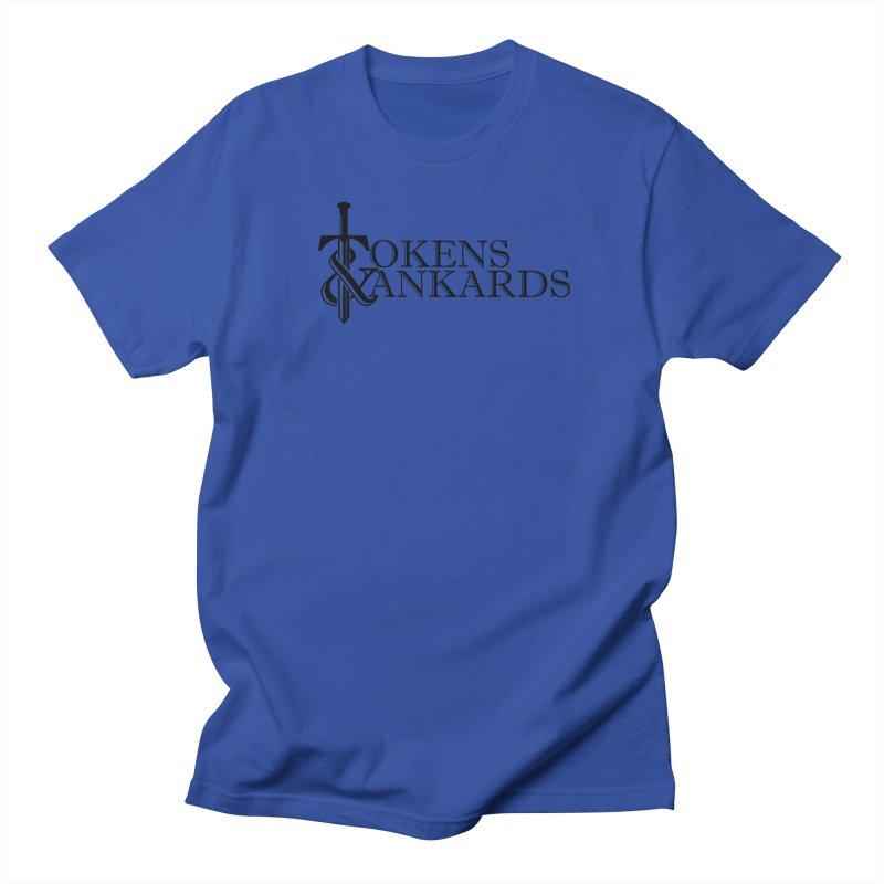Black Logo Men's Regular T-Shirt by Tokens & Tankards
