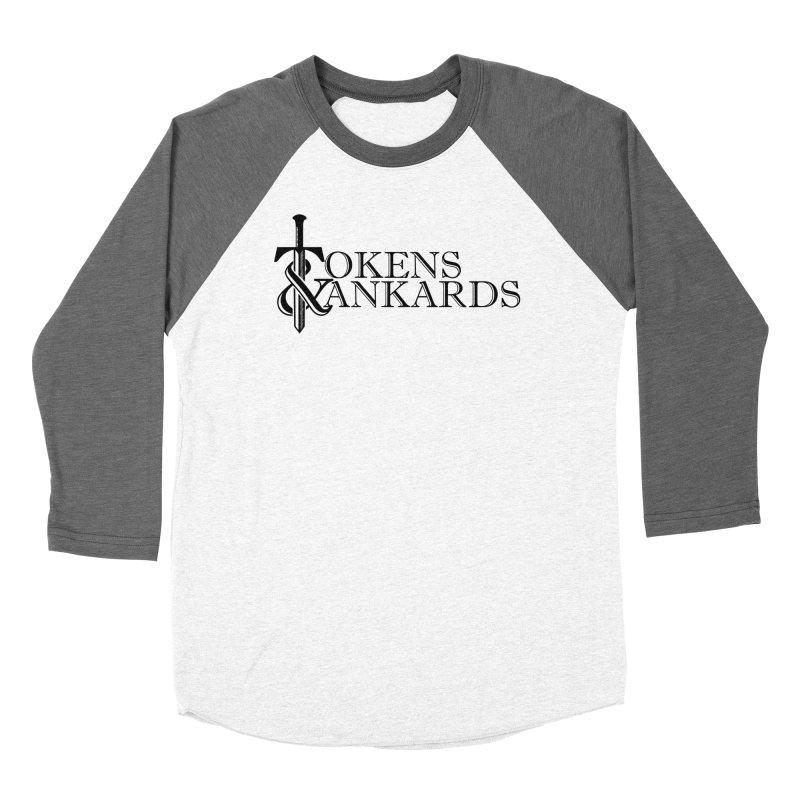Black Logo Women's Baseball Triblend Longsleeve T-Shirt by Tokens & Tankards