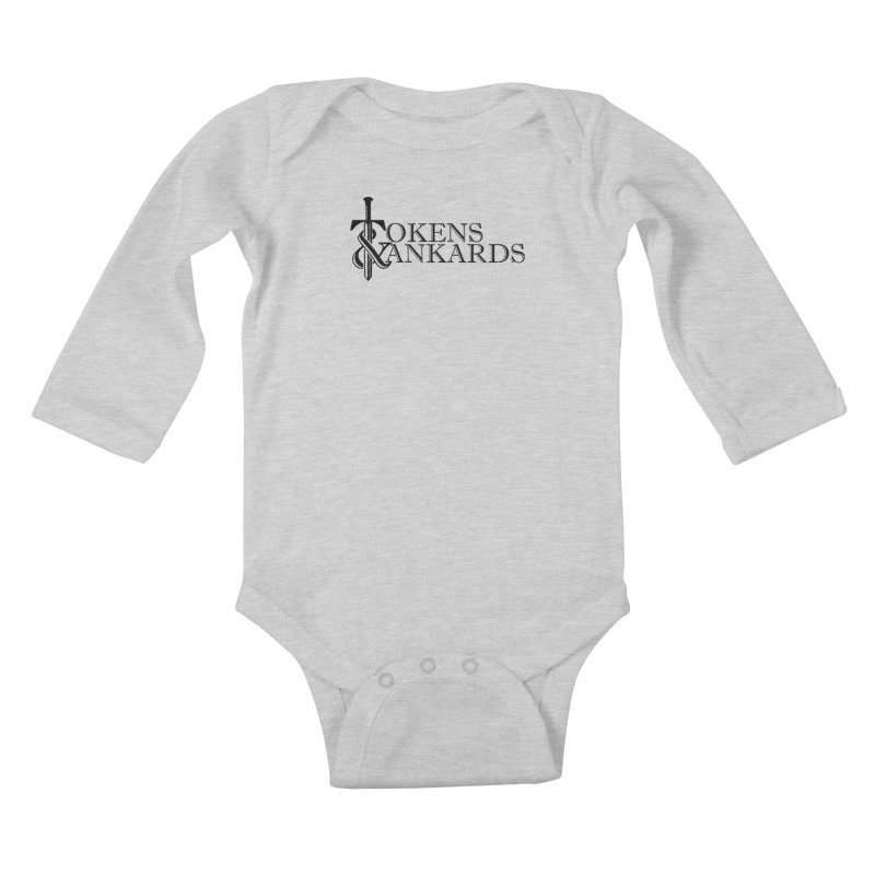 Black Logo Kids Baby Longsleeve Bodysuit by Tokens & Tankards