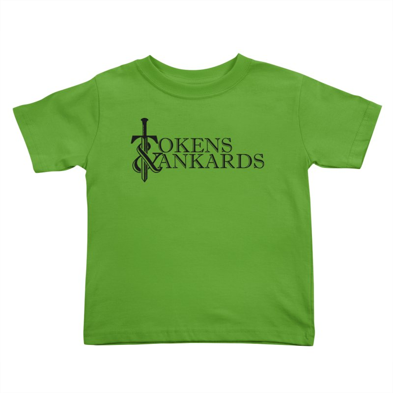 Black Logo Kids Toddler T-Shirt by Tokens & Tankards
