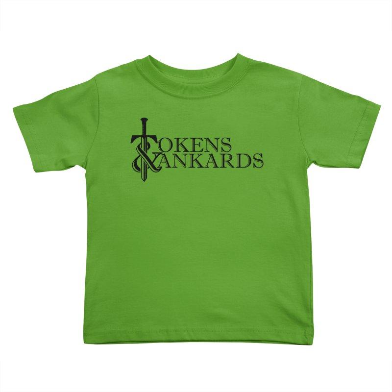 Black Logo Kids Toddler T-Shirt by Tokens & Tankards