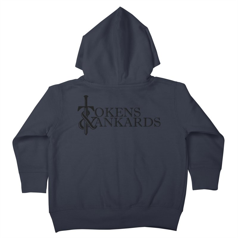 Black Logo Kids Toddler Zip-Up Hoody by Tokens & Tankards