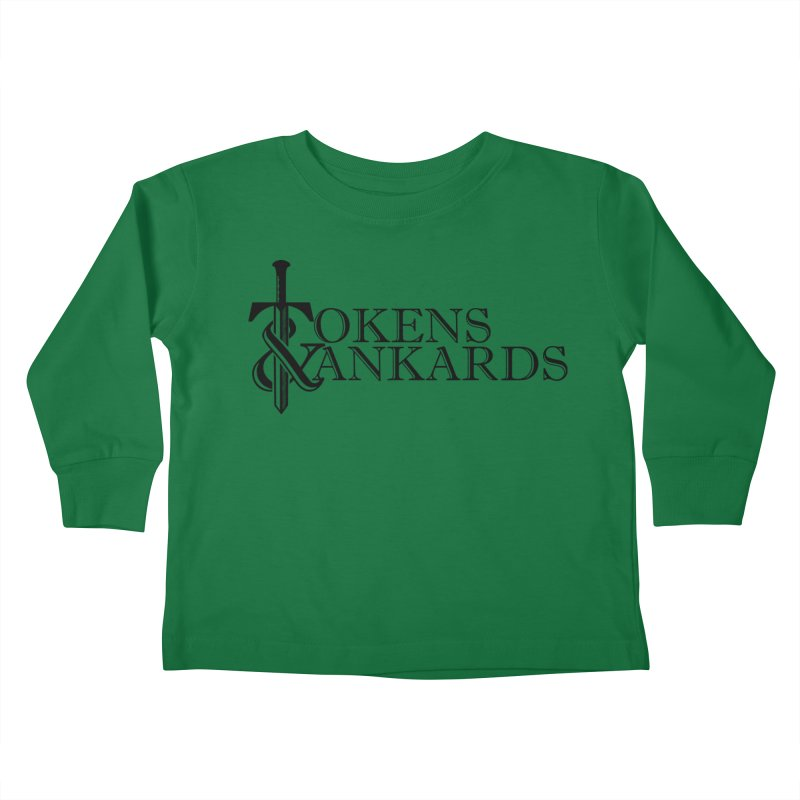 Black Logo Kids Toddler Longsleeve T-Shirt by Tokens & Tankards