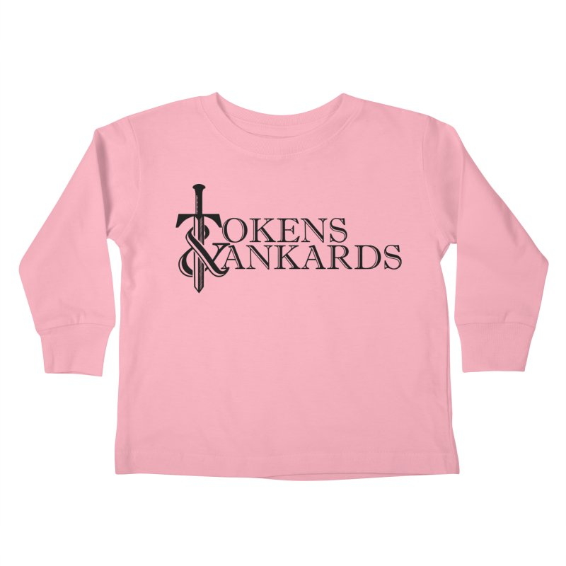 Black Logo Kids Toddler Longsleeve T-Shirt by Tokens & Tankards