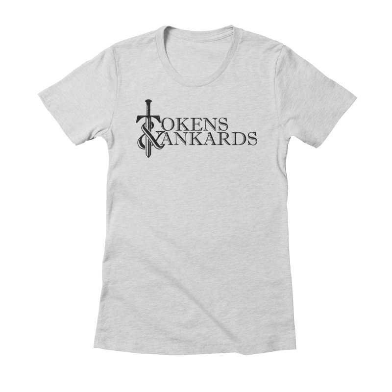 Black Logo Women's T-Shirt by Tokens & Tankards
