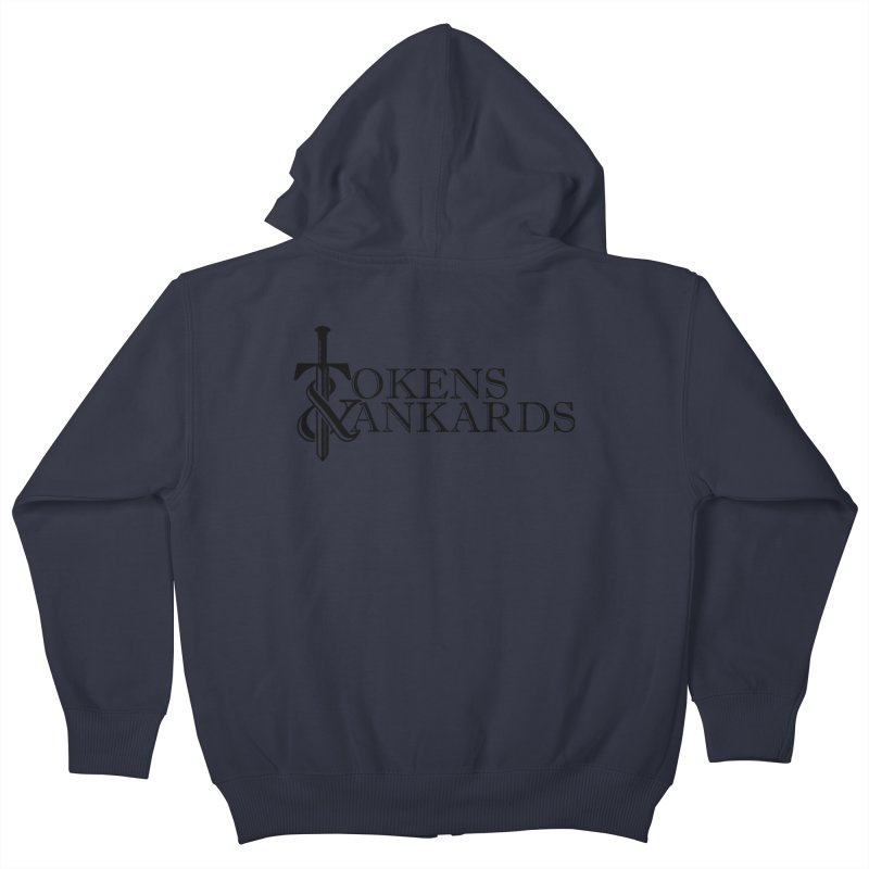 Black Logo Kids Zip-Up Hoody by Tokens & Tankards