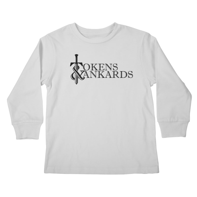 Black Logo Kids Longsleeve T-Shirt by Tokens & Tankards