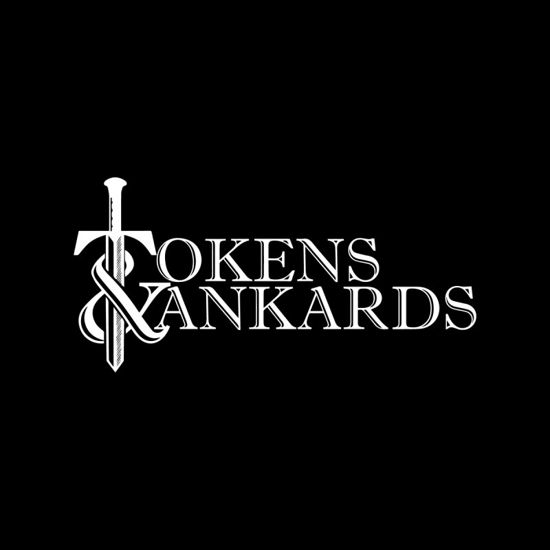 White Logo by Tokens & Tankards