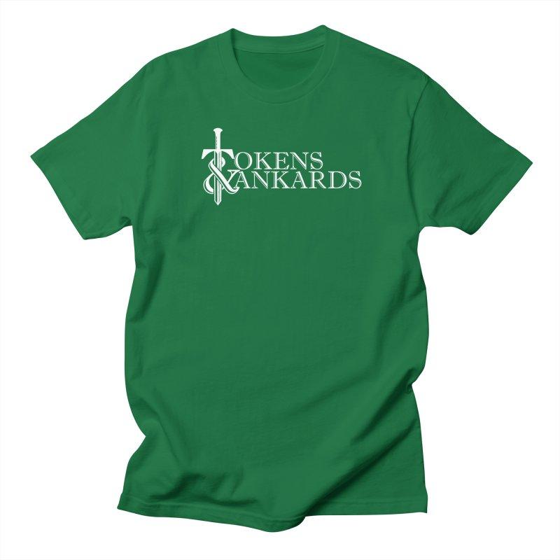 White Logo Men's T-Shirt by Tokens & Tankards