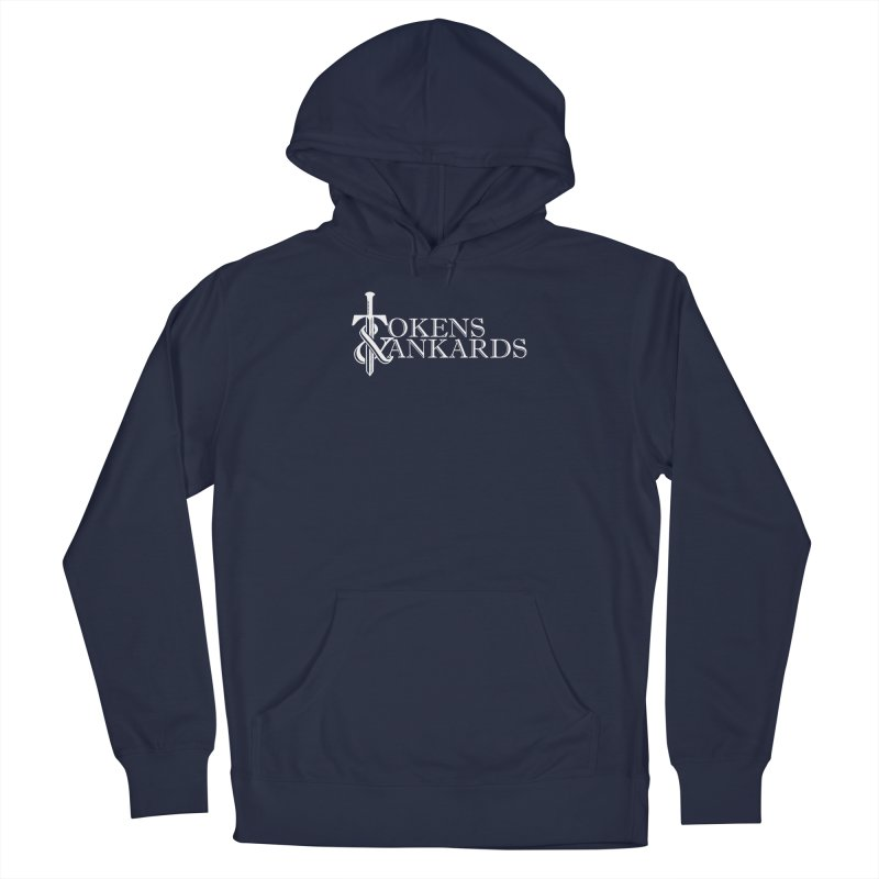 White Logo Men's Pullover Hoody by Tokens & Tankards