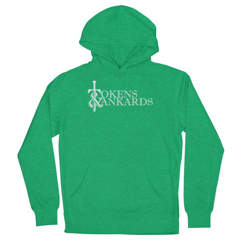 White Logo Women's French Terry Pullover Hoody by Tokens & Tankards