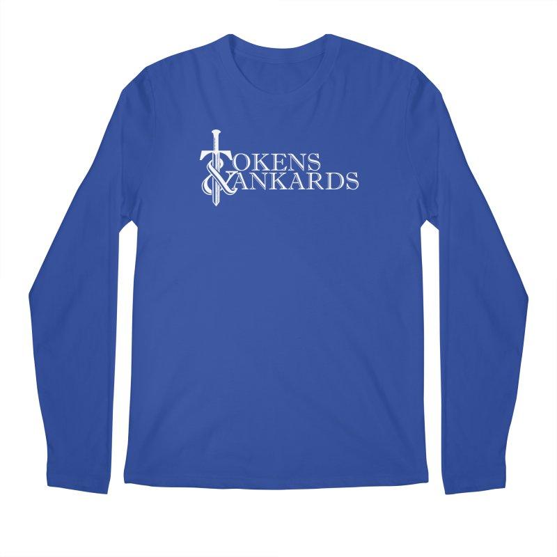 White Logo Men's Longsleeve T-Shirt by Tokens & Tankards