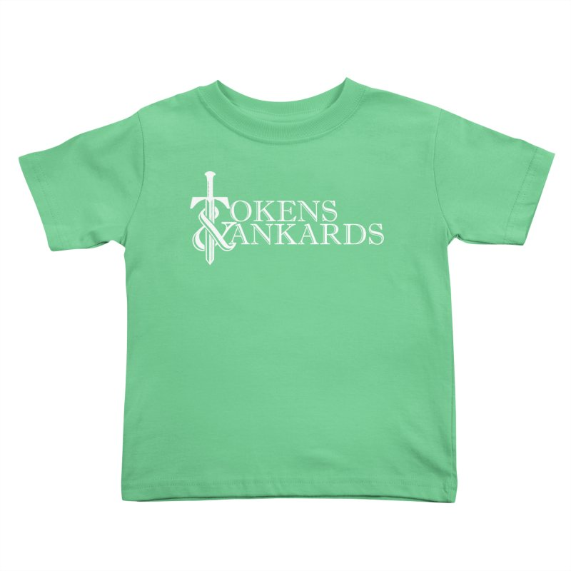 White Logo Kids Toddler T-Shirt by Tokens & Tankards