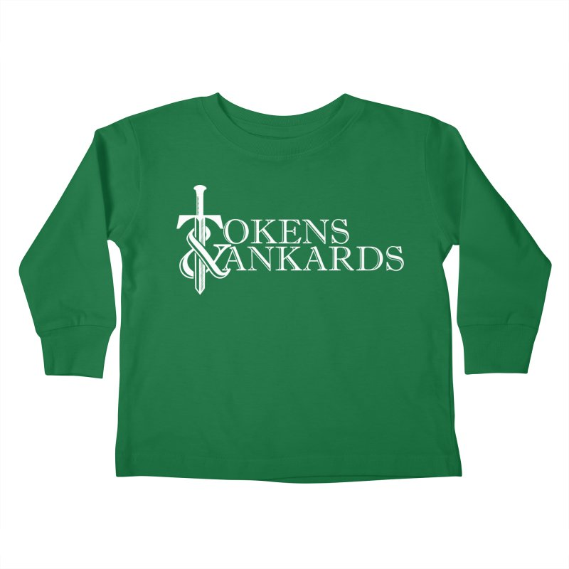 White Logo Kids Toddler Longsleeve T-Shirt by Tokens & Tankards