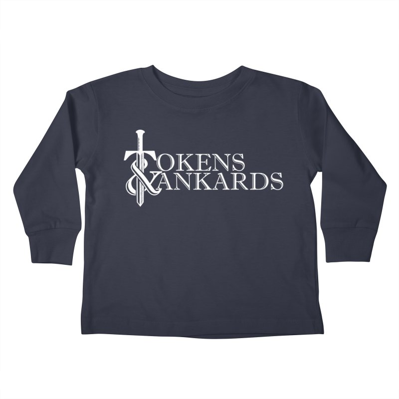 White Logo Kids Toddler Longsleeve T-Shirt by Tokens & Tankards