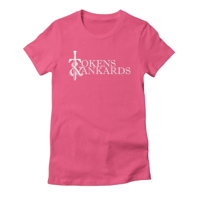 White Logo Women's T-Shirt by Tokens & Tankards