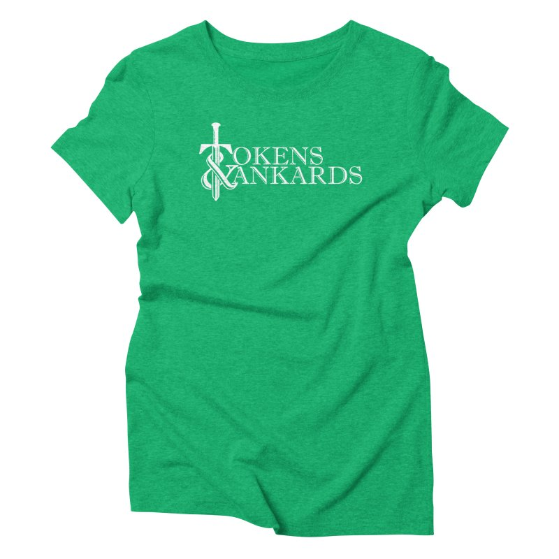 White Logo Women's Triblend T-Shirt by Tokens & Tankards