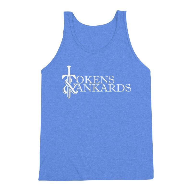 White Logo Men's Triblend Tank by Tokens & Tankards