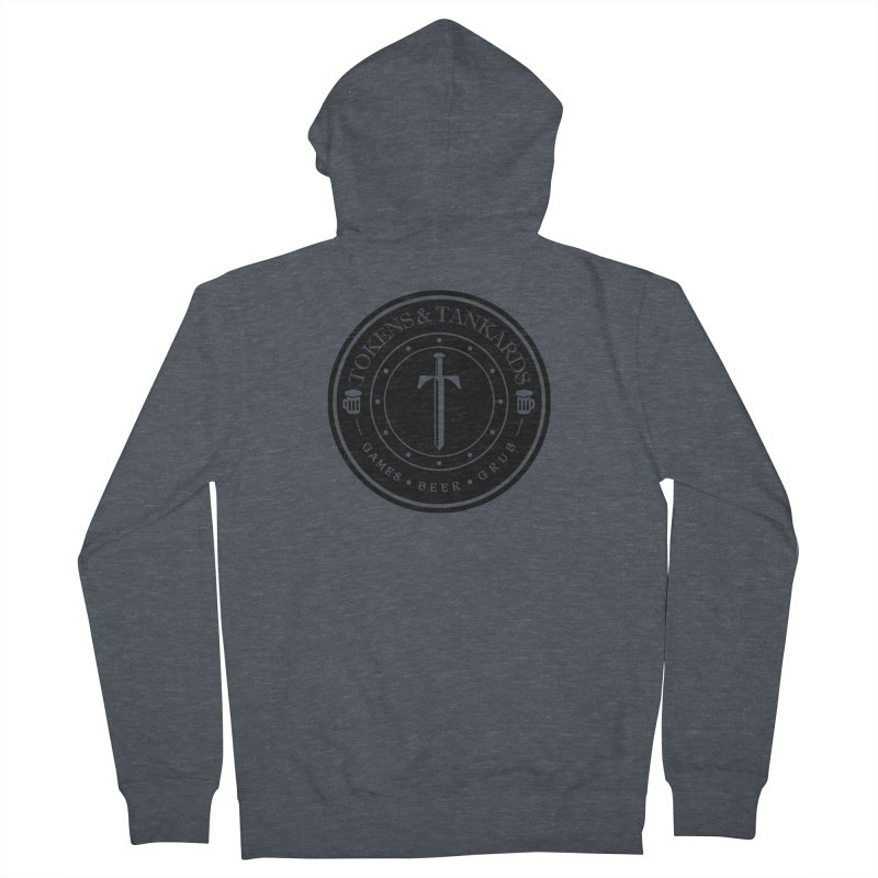 Dark Token Men's French Terry Zip-Up Hoody by Tokens & Tankards