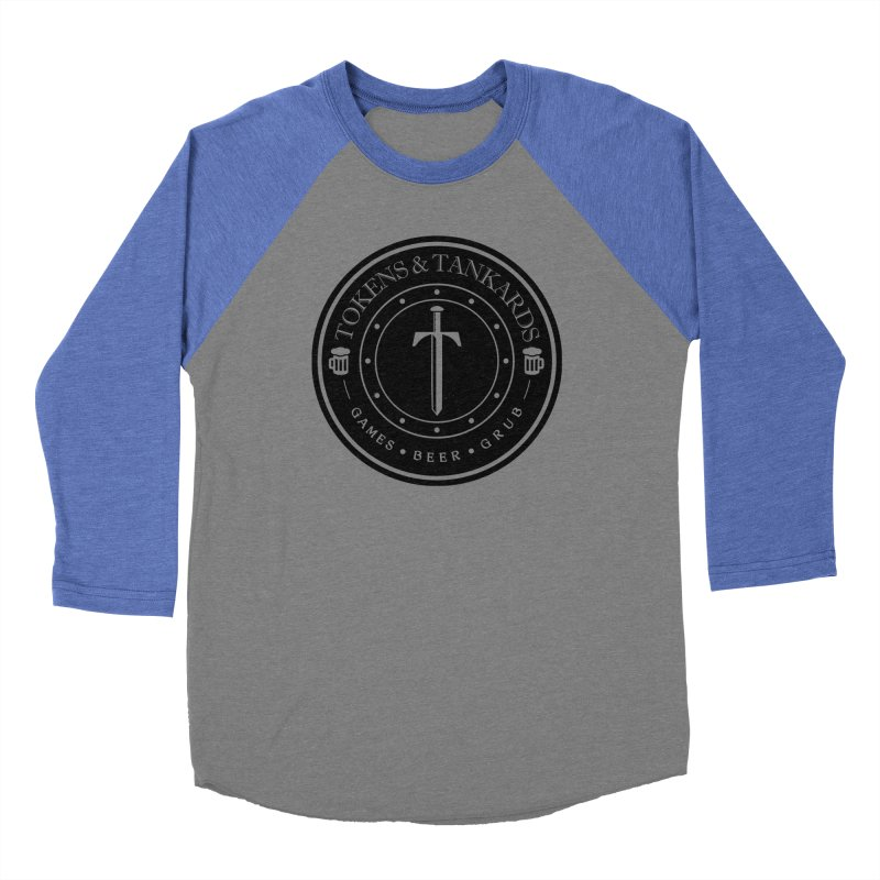 Dark Token Men's Baseball Triblend Longsleeve T-Shirt by Tokens & Tankards
