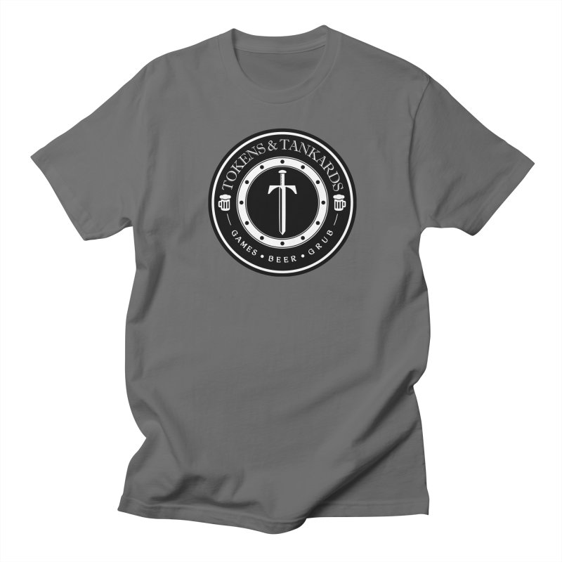 White Banded Token in Men's T-Shirt Asphalt by Tokens & Tankards