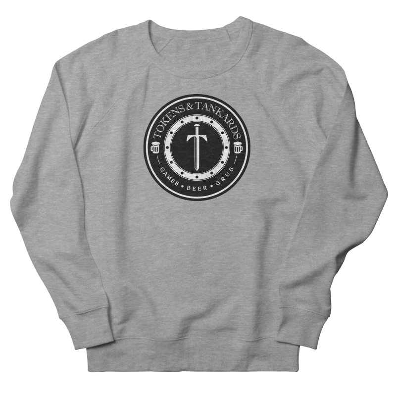 White Banded Token Men's French Terry Sweatshirt by Tokens & Tankards