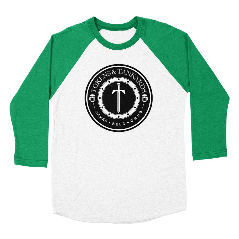 White Banded Token Men's Baseball Triblend Longsleeve T-Shirt by Tokens & Tankards