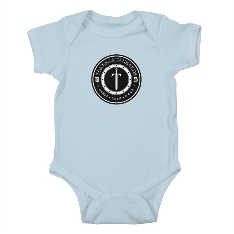 White Banded Token Kids Baby Bodysuit by Tokens & Tankards