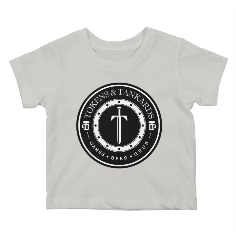 White Banded Token Kids Baby T-Shirt by Tokens & Tankards
