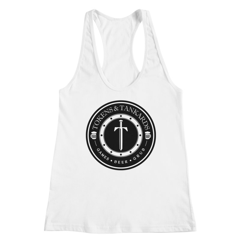 White Banded Token Women's Tank by Tokens & Tankards