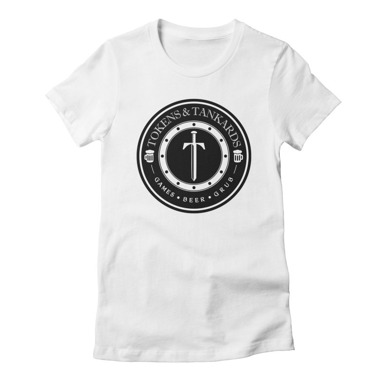 White Banded Token Women's T-Shirt by Tokens & Tankards
