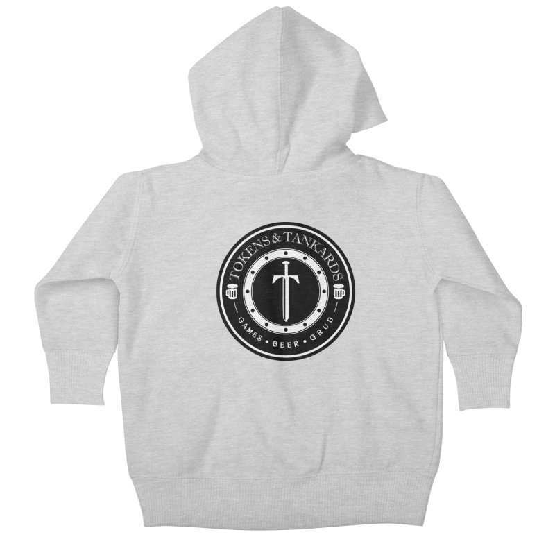 White Banded Token Kids Baby Zip-Up Hoody by Tokens & Tankards