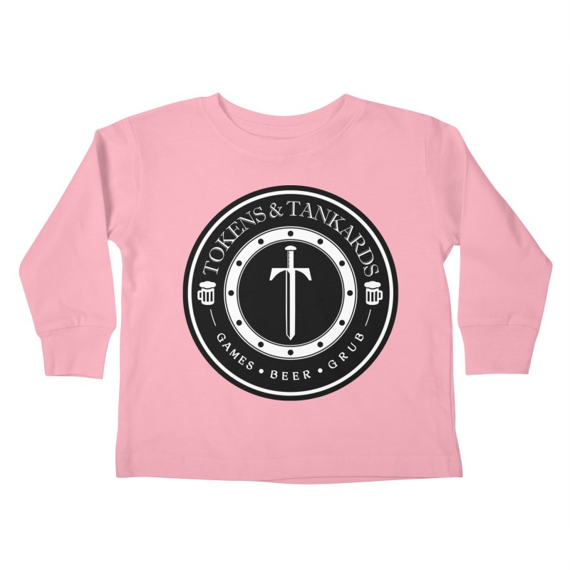 White Banded Token Kids Toddler Longsleeve T-Shirt by Tokens & Tankards