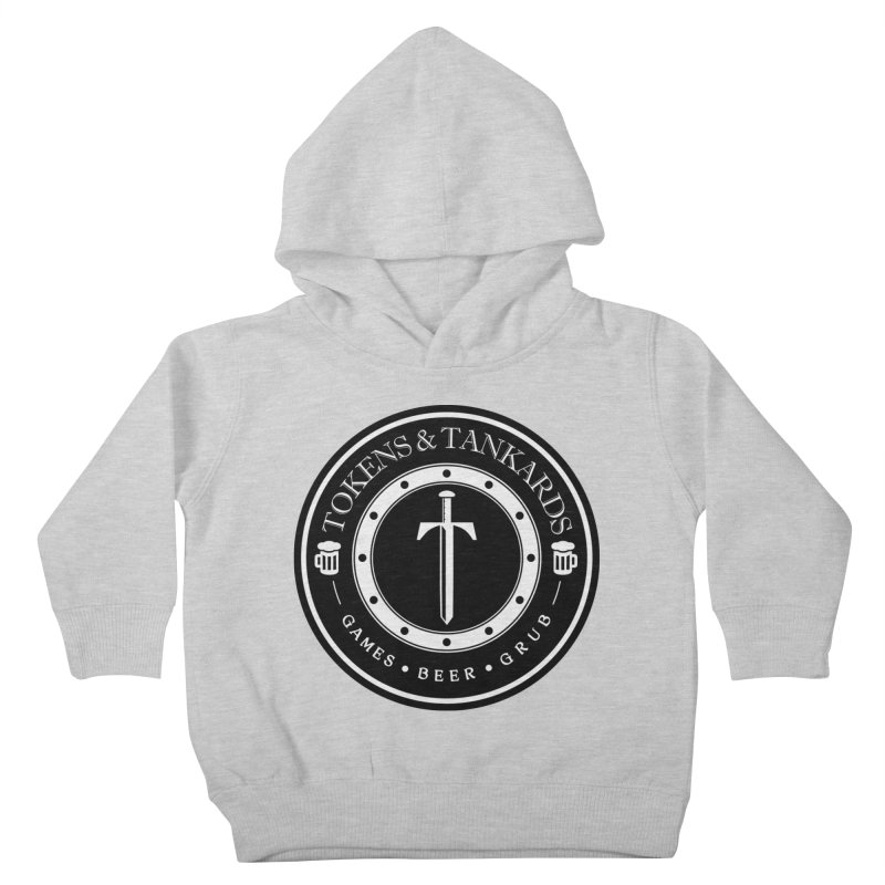 White Banded Token Kids Toddler Pullover Hoody by Tokens & Tankards