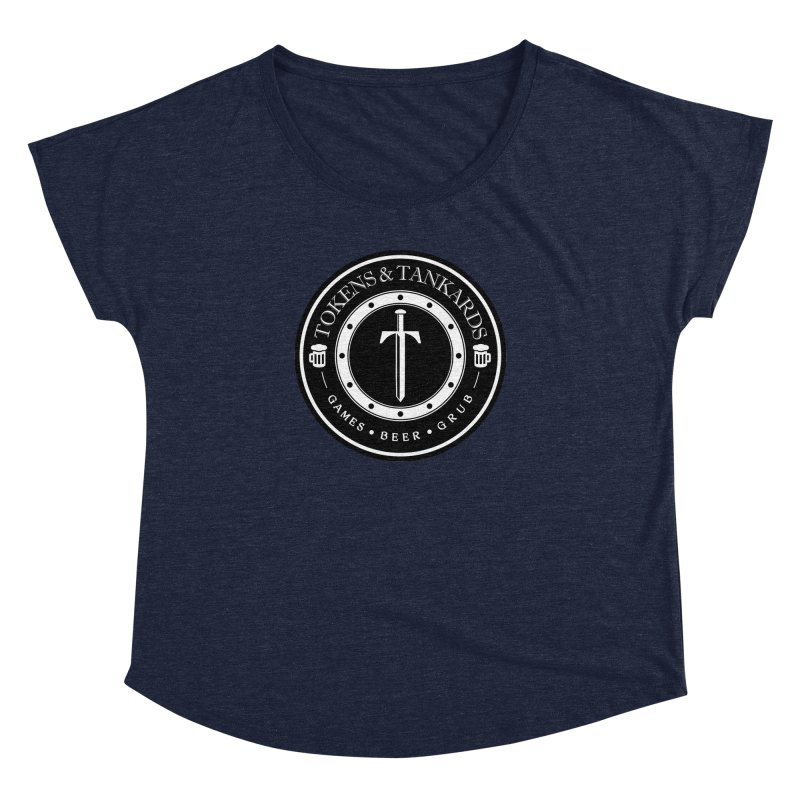 White Banded Token Women's Scoop Neck by Tokens & Tankards