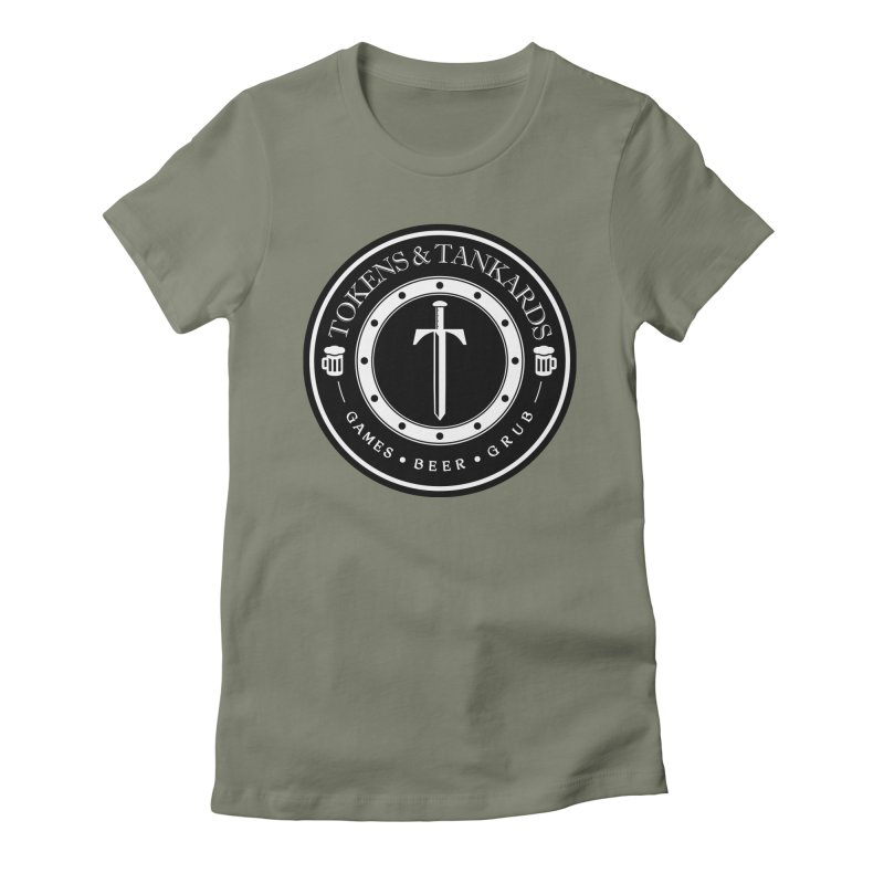 White Banded Token Women's Fitted T-Shirt by Tokens & Tankards