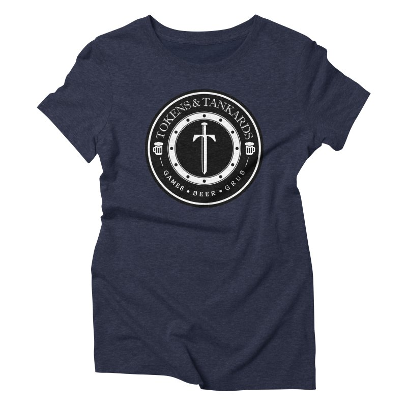 White Banded Token Women's Triblend T-Shirt by Tokens & Tankards