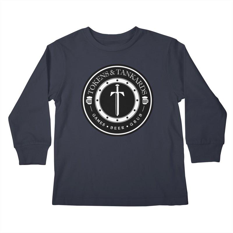 White Banded Token Kids Longsleeve T-Shirt by Tokens & Tankards