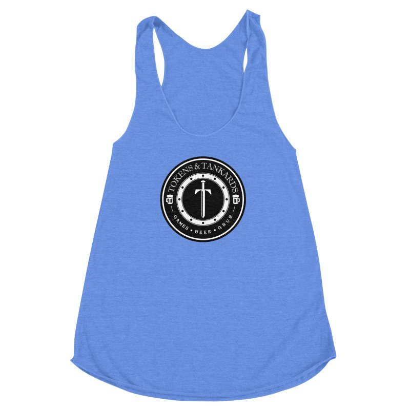 White Banded Token Women's Racerback Triblend Tank by Tokens & Tankards