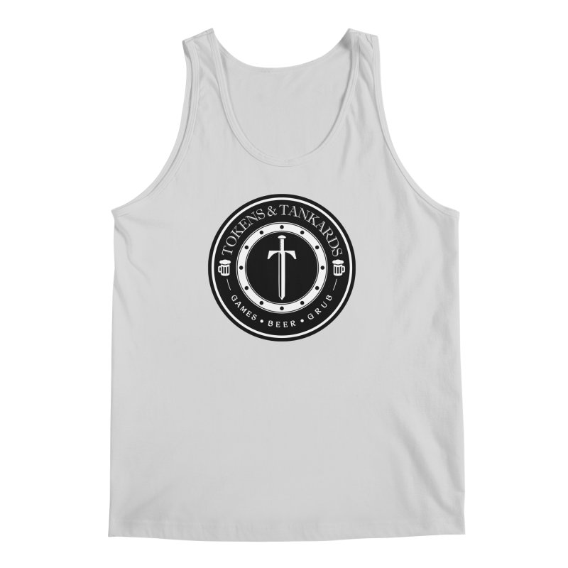 White Banded Token Men's Regular Tank by Tokens & Tankards