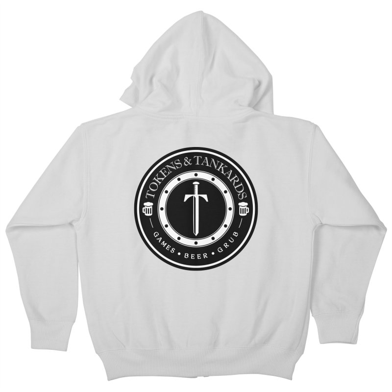 White Banded Token Kids Zip-Up Hoody by Tokens & Tankards