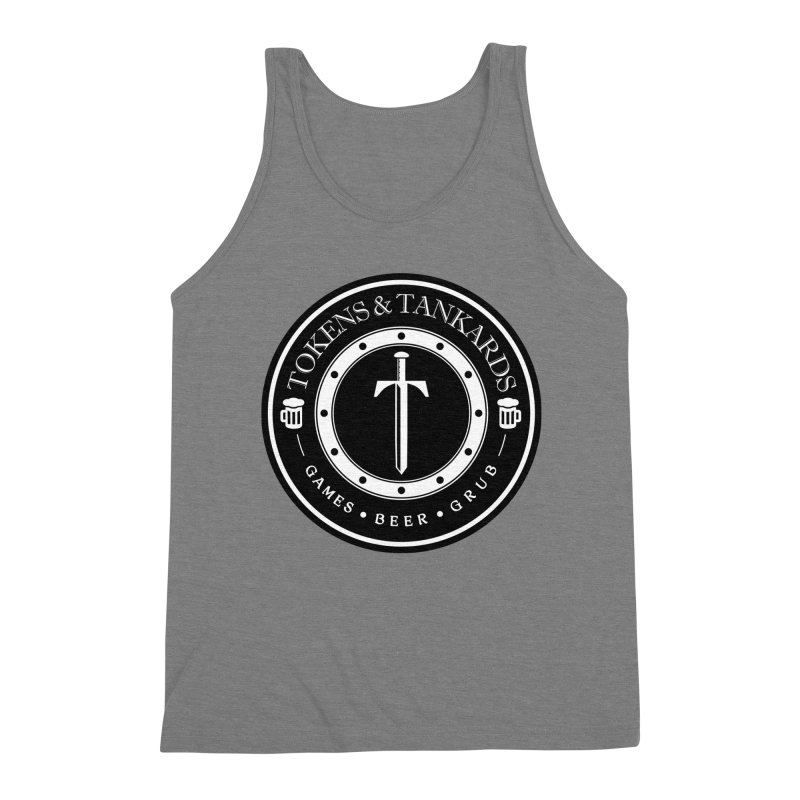 White Banded Token Men's Triblend Tank by Tokens & Tankards
