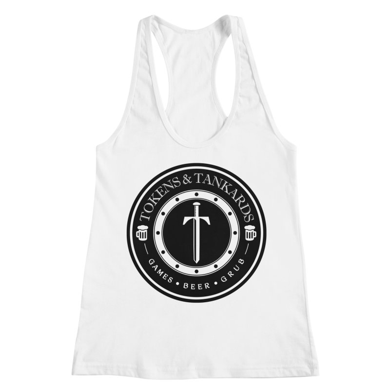 White Banded Token Women's Racerback Tank by Tokens & Tankards
